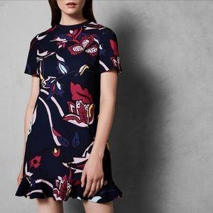 Ted Baker • jungle frill Carleea shift dress